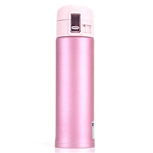 ZYLLL Hochleistungs-Edelstahl-Thermoskanne Fashion Automotive Water Portable Isolation Vakuum-Thermoskanne Pink 350ml
