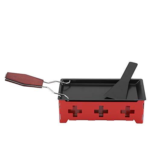Mini raclette de acero al carbono, sartén fundidora de queso a la luz de las velas resistente a altas temperaturas duradera, para regalo para cocina para el hogar para adultos