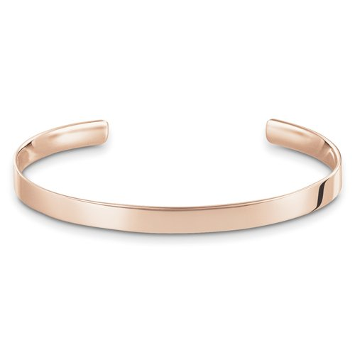 THOMAS SABO Damen-Armreif Roségold Love Cuff Silber vergoldet 8.8 cm - AR087-415-12-L