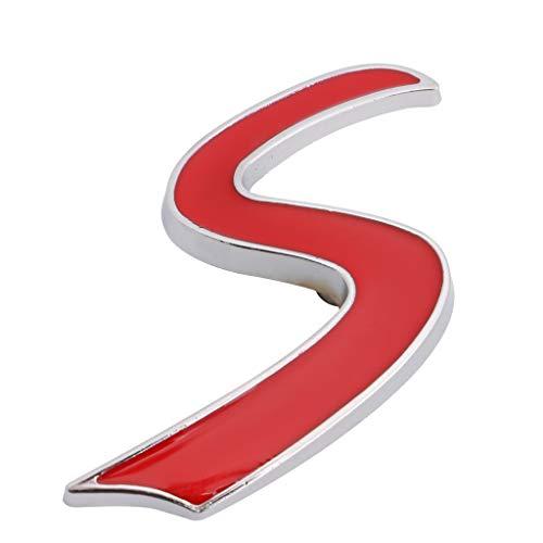 ShiftX4 3D Metal S Insignia de rejilla frontal Emblema Calcomanía de decoración de vinilo calcomanía Sport Performance para Mini Cooper R50 R52 R53 R56 R57