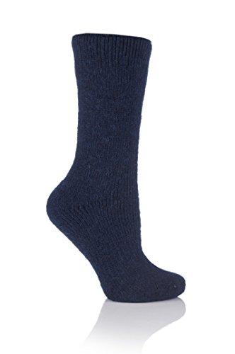 HEAT HOLDERS 1 Paar Damen ORIGINAL Wolle Thermische Wärmehalter Socken Größe 4-8 uk, 37-42 EUR Indigio