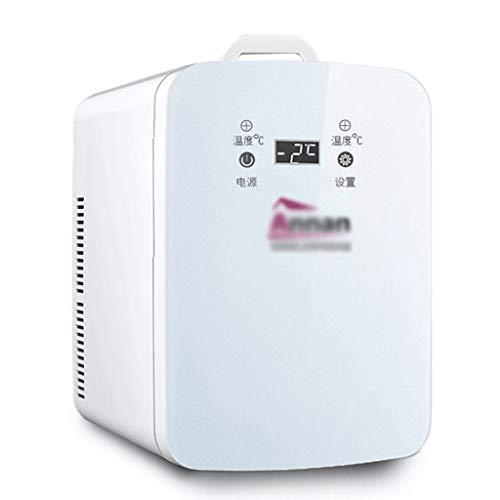BYZHP Mini Nevera Mini Refrigerador Mini refrigerador refrigerador refrigerador eléctrico Más frío Calentador Mini Frigorífico 22L Puerta Individual Mini refrigerador para automóviles y hogar