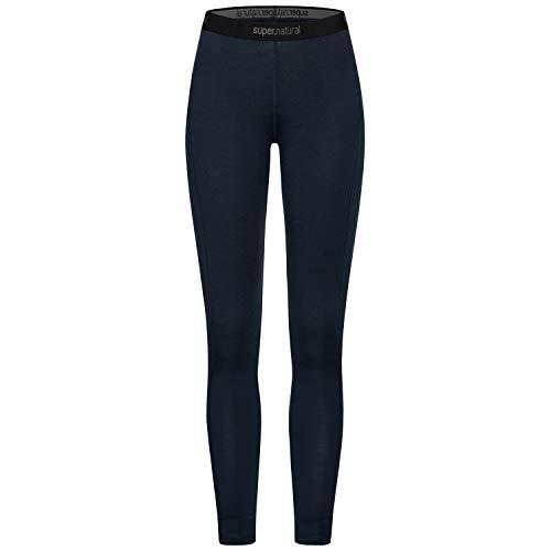 super.natural Warme Damen Funktions-Unterhose, Mit Merinowolle, W BASE TIGHT 230, Größe: XL, Farbe: Dunkelblau
