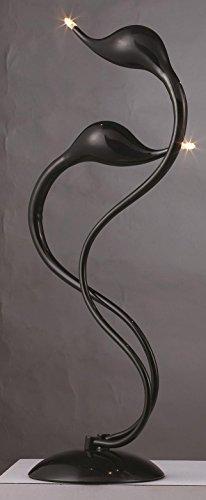 LUMONDE - Lampe de Table 2x20w G4 design Moderne, deux têtes, immitation Flamand Rose, en Métal et couleur Bleu