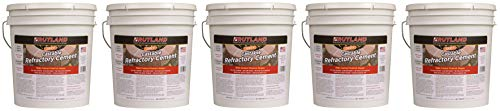 Rutland Products 25 lbs Castable Refractory Cement, Taupe (Five Pack)