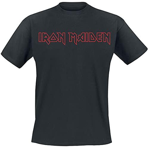 Iron Maiden Revised Logo Männer T-Shirt schwarz XL 100% Baumwolle Band-Merch, Bands