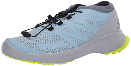 Salomon Women's SENSE FLOW W Hiking Shoes, angel falls/Pearl Blue/Safety Yellow, 9