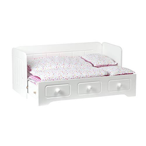 Adora Amazing World Trundle Bed with Bedding – 6Piece Set Doll Bed for 18 Dolls (Amazon Exclusive)