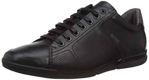 BOSS Herren Saturn_Lowp_Lux4 Sneaker, Schwarz (Black 001), 41 EU