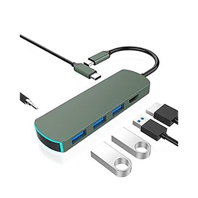 Amazon - 50% Off on USB C Hub,USB-C Laptop Docking Station,6 in 1 Triple Display Type C