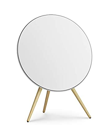 Bang & Olufsen Beoplay A9 4th Generation Speaker - Iconic Wireless, White with Oak Legs by Bang & Olufsen