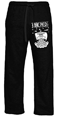 Ripple Junction One Piece Adult Merry and Logo Light Weight 60% Cotton, 40% Polyester Lounge Pant Large Black