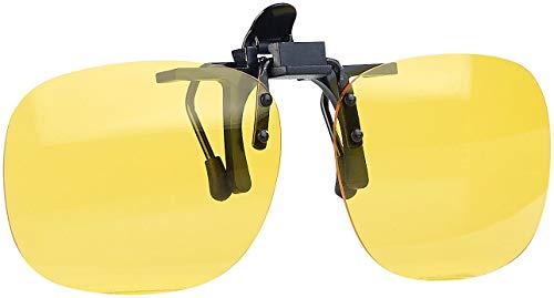 PEARL Brillenclips: Nachtsicht-Brillenclip in rundlichem Design, polarisiert, UV400 (Nachtbrillen)