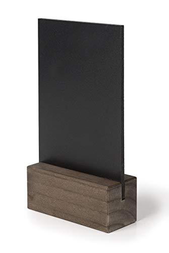 Lacor 39420 Blat tablica stołowa ze stojakiem z drewna bukowego Wykończenie mahoniowe 15 x 20 cm