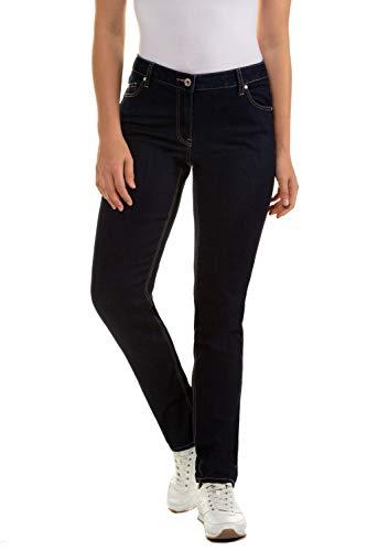GINA LAURA Damen | Jeans | Raw Denim | Normale Bundhöhe | Bequeme Oberschenkel | 5-Pocket | Kurzgröße | bis Größe 24 | raw Denim 22 709707 91-22