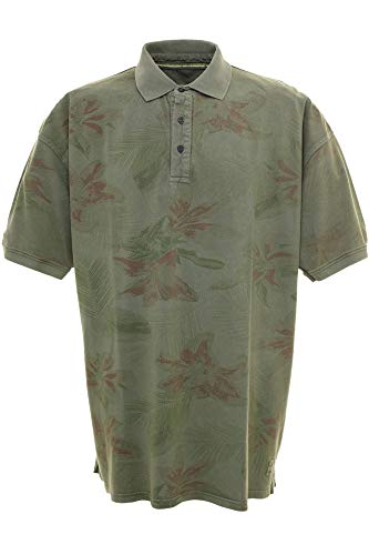 Kitaro Polo Poloshirt Hawaii Herren Kurzarm Übergröße, Farbe:grau, Herrengrößen:4XL