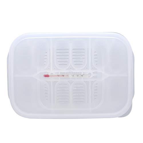 GOTOTOP Box per l\'allevamento di rettili con termometro, incubatrice per Uova Box per incubatoio per Geco lucertole da cova Serpenti e Altri rettili