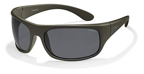 Polaroid 7886 - Gafas de sol rectangulares unisex, color verde (oliva scuro), talla 66