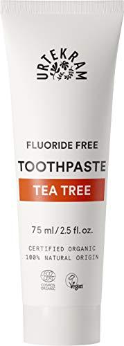 Urtekram Teebaum Zahnpasta Bio, ohne Flour, 2er Pack (2 x 75 ml)