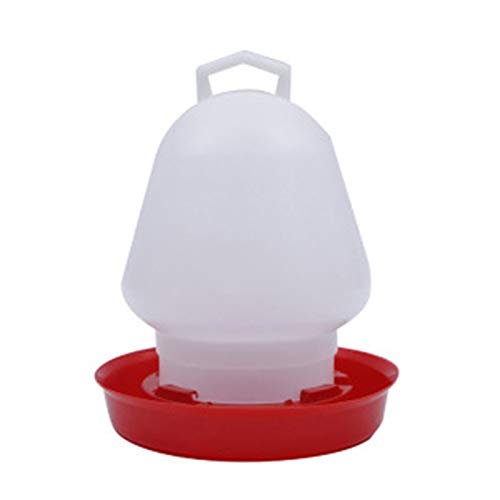 Round Bubble Chicken Drinking Fountain Device Hanging Cup Waterer Bowl Pet Poultry Water Drinker Household Pet Feeding Hand-held Portable Poultry Drinking Water Equipment (Color : 3000ml)