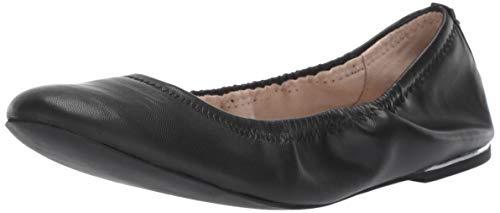 BCBGeneration Women's Georgia Ballet Flat, Black, 6 M US