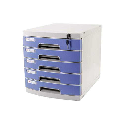 LHQ-HQ Plastische, kosmetischer Drawer Schreibtisch, Schrank Organizer abschließbare Schublade Sorter A4 Box for Büro (4-Ebenen-Größe: 11.8in * 15.8in * 13in) (Größe: 5-Schichten) Zeitungsständer