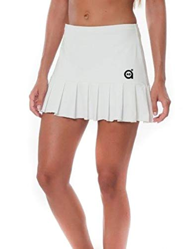a40grados Sport & Style, Falda Flip Blanca, Mujer, Tenis y Padel (Paddle) (40 M)