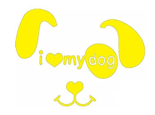 Amo a mi Perro Pegatinas de Coche descompresión Pegatina de parachoque Pegatinas de la Puerta 12 cm * 16 cm (Color : 5, Size : 12cm*16cm)