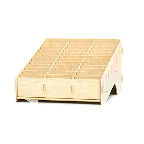 dewdropy Mobile Phones Aufbewarhungs Box Klassenzimmer, 32.6x29.3x20.5cm Handy Management Aufbewahrungsbox Aus Holz Kreative Desktop Büro Meeting Finishing Grid Multi Handy Rack Shop Anzeige
