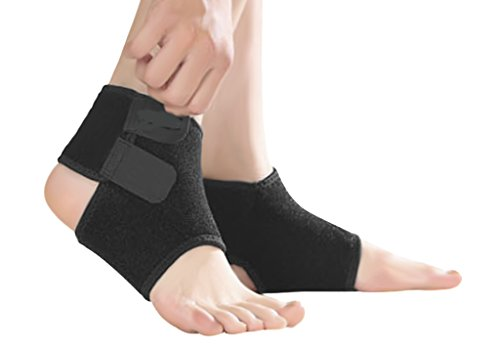 JIAHGUK Kids Knöchel für Mädchen, verstellbar, mit Knöchel-Bandage Ärmel für Kinder, Sport-Schutz Atmungsaktiv Elastischer-Hut Nonslip Sport-Socken, Laufen, Basketball, Volleyball M Schwarz