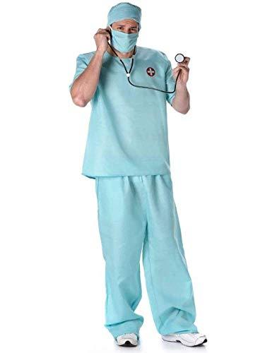 Karnival 82093 Mannelijke Chirurg Kostuum Mannen, Groen, Medium