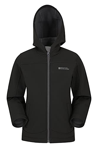 Mountain Warehouse Exodus dziecięca wodoodporna kurtka softshellowa, przejściowa kurtka przeciwdeszczowa z kapturem, wiatroszczelna, oddychająca, unisex
