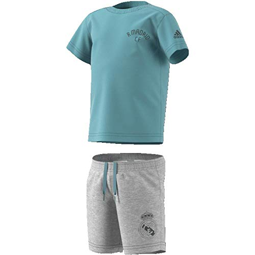 adidas Baby Mini Me Real Madrid Set Trikot Mit Short, ash Grey s18/Grey Five, 98