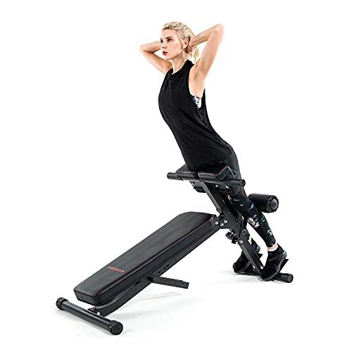 Vanswe Adjustable Ab Bench Multi-Functional Weight...
