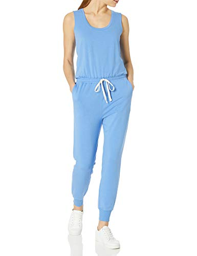 Amazon Essentials Studio Terry Fleece Jumpsuit Overall, French Blue Heather, M