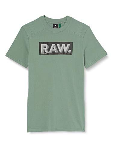 G-STAR RAW Reinforced Reflective Raw. Logo+ Camiseta, Teal Grey 336-b960, M para Hombre