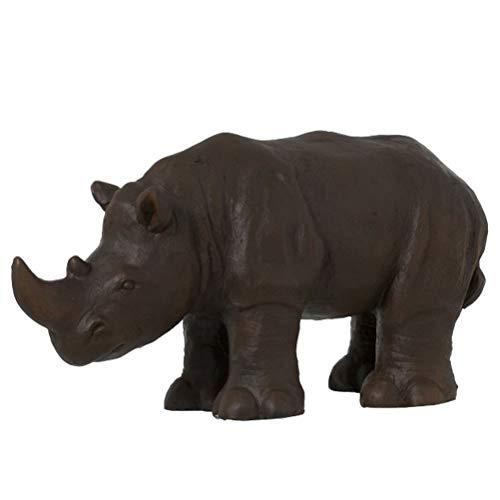 Rhinocéros Ethnique en résine Marron