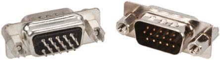 Amphenol FCI D-Sub-Steckverbinder 26-polig 2.29mm Gerade THT, Loten, 250,0 V, 2.5A