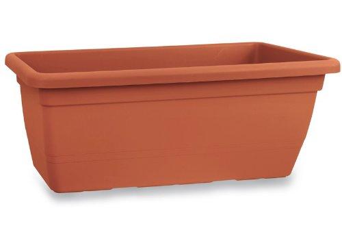 Blim Anthea Vaso da Fiori Rettangolare, 50 cm, Marrone Scuro, 30x50x30 cm