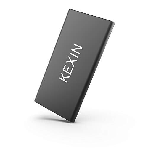 KEXIN 60GB External SSD Drive USB 3.0 High Speed Read & Write up to 450MB/s & 400MB/s External Storage Ultra-Slim Solid State Drive for PC, Desktop, Laptop, MacBook Black