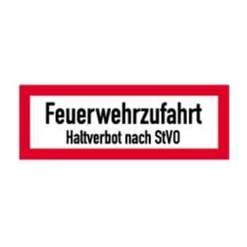Feuerwehrzufahrt-freihalten-Halteverbot StVO-Feuerwehr-Alu-Schild-4 Ausführungen
