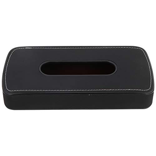 VOSAREA Multipurpose Sun Visor Tissue Holder Back Seat Tissue Box Car Leather Tissue Case Holder (Black)
