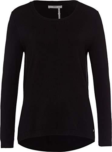 BRAX Damen Style Rundhalspullover Viskose Pullover, Black, 40