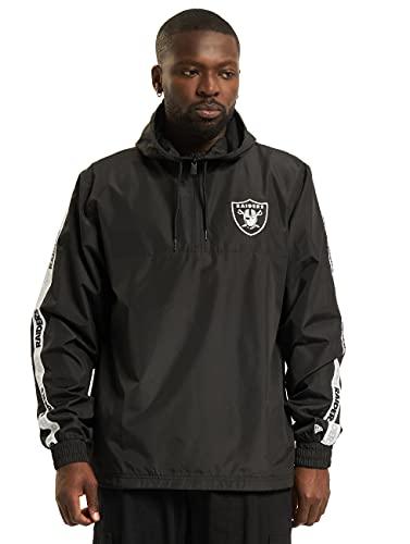 New Era NFL Las Vegas Raiders Taping - Chaqueta de entretiempo para hombre, Negro , M