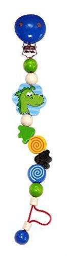 Hess Mobile en bois Dragon Thomas et tétine bébé jouet, 21 cm - version anglaise