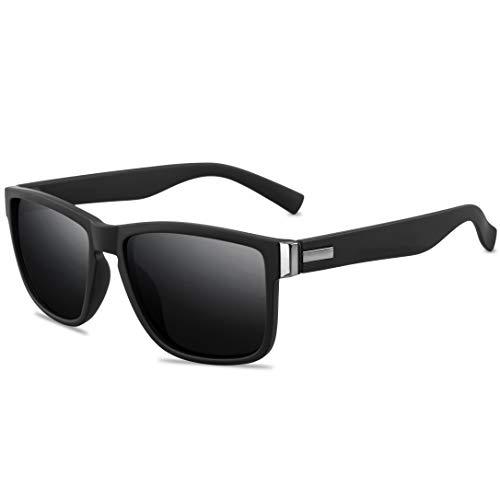 Desconocido Vintage polarized sunglasses for men and women 100% UV Protection Driving Sunglasses Retro Square frame Sport sunglasses…