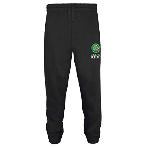 Celtic FC Official Soccer Gift Mens Fleece Joggers Jog Pants Black Large
