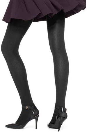 No Nonsense Women's Brushed Opaque Tights (M, Black)
