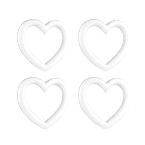 Toyvian 4 Stücke Styroporring Styroporkranz Styroporherzen Styropor Ring Polystyrol Kranz Herz Polystyrol Styropor Ball für DIY Kunst Handwerk Basteln Weihnachten Hochzeit Deko