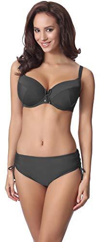 Merry Style Damen Bikini Set P61830 (Graphite, Cup 80 E/Unterteil 40)